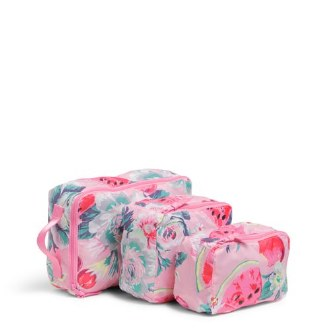 Packable Packing Cube Set Rosy Garden Picnic