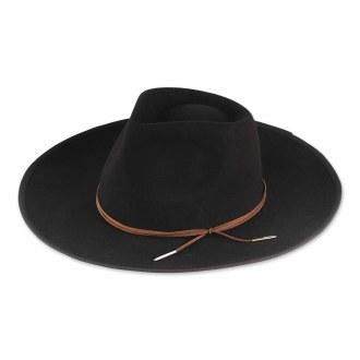 Faye Wool Panama Hat Black