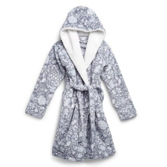 Plush Shimmer Cozy Life Robe Frosted Lace: S-M