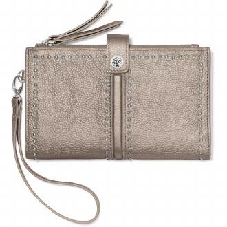 Pretty Tough Double Zip Wallet Zinc Pearl