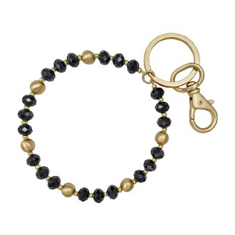 Black & Gold Key Ring