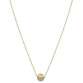 Gold Single Ball Necklace