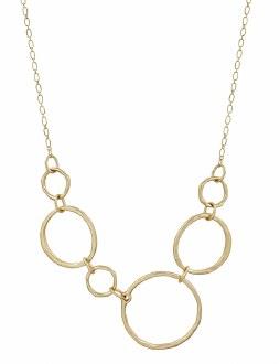 Matte Gold Open Circle Necklace