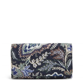 RFID Trifold Clutch Wallet: Java Navy Camo