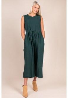 Sleeveless Culotte Jumpsuit Large