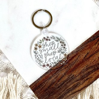 Shop Small Keychain