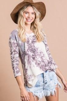 Lavender Print Top