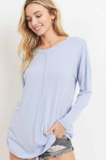 Pale Blue Knit Top