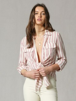Vertical Stripe Open Front Top Small