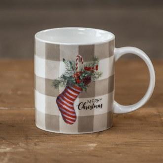 Striped Filled Stocking Mug