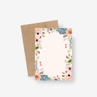 Navy/Blush Floral Staionary Set