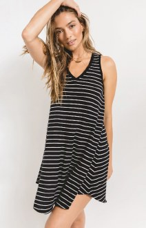 Yuma Stripe Linen Dress Small