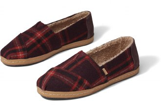 Barn Red Plaid TOMS