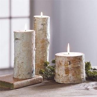 Large Birch Bark Tealight