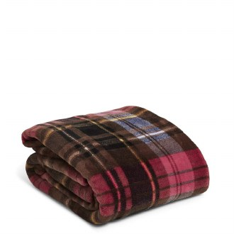 Plush Throw Blanket Cozy Plaid