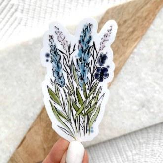 Sticker: Blue And Purple Stems