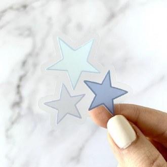 Sticker: Blue Mini Stars