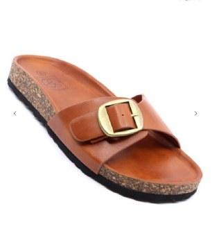 Boho Buckle Sandal Brown size 6