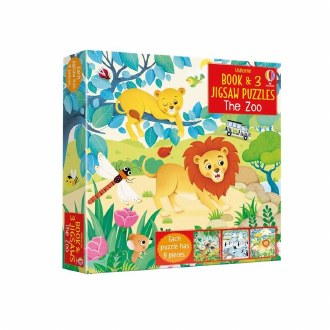 Book & 3 Jigsaw Puzzle Zoo