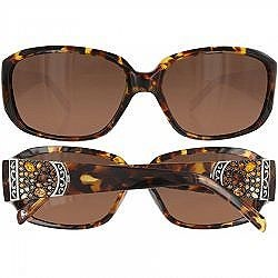 Tortoise with Stones Crystal Voyage Sunglasses