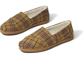 Buckthorn Brown Plaid TOMS