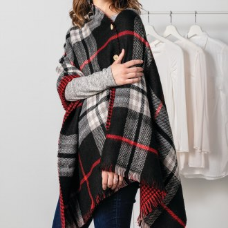 Reversible Button Poncho