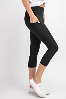Capri Pocket Leggings: Black