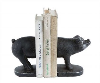 Cast Iron Pig Bookends