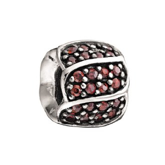 Jeweled Red Petals Bead