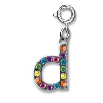 """Rainbow Letter """"D"""" Charm"""