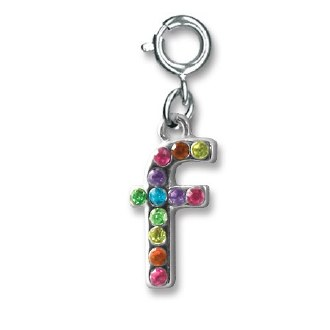 "Rainbow Letter ""F"" Charm"