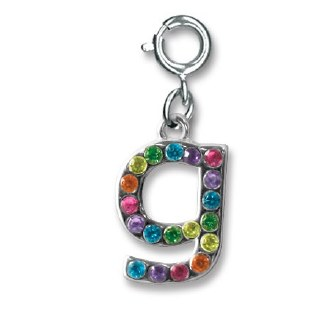 """Rainbow Letter """"G"""" Charm"""