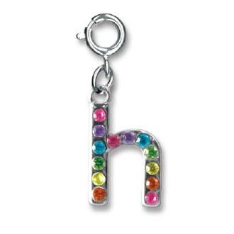 "Rainbow Letter ""H"" Charm"