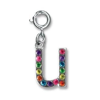 """Rainbow Letter """"U"""" Charm"""