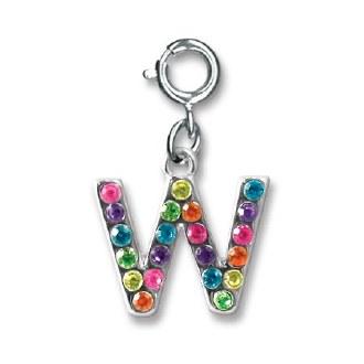 "Rainbow Letter ""W"" Charm"