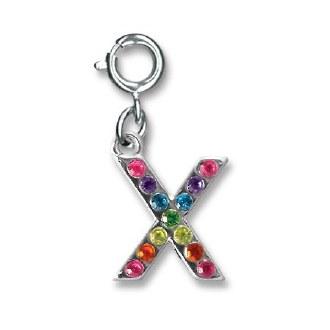 """Rainbow Letter """"X"""" Charm"""