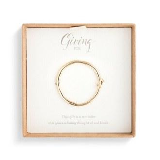 Gold Circle Ribbon Giving Pin