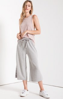 Feathered Fleece Culottes