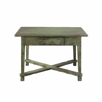 Distressed Green Finish Table
