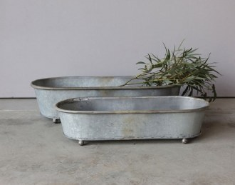 Tin Oval Planter (Large)