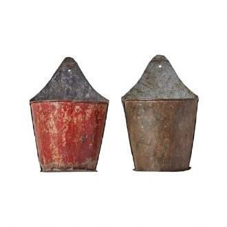 Found Metal Half Bucket