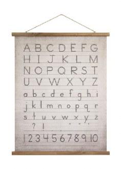 Alphabet Wood Scroll