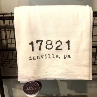 Danville Zip Code Tea Towel