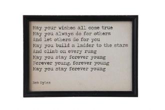 Bob Dylan Framed Quote