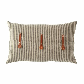 Pillow w/ Leather Trim