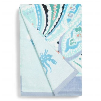 Double Sided Beach Towel Paisley Wave
