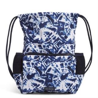 Deluxe Drawtring Backpack Island Tie-Dye