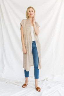 Duster w/ Striped Back Medium