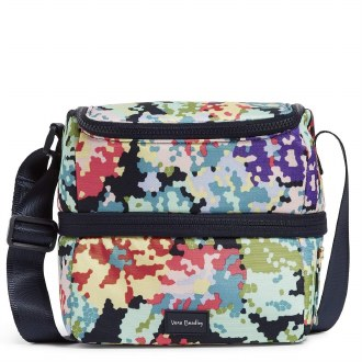 ReActive Expandable Lunch Cooler: Happy Blooms Cross Stitch