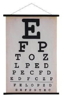 Canvas Eyechart